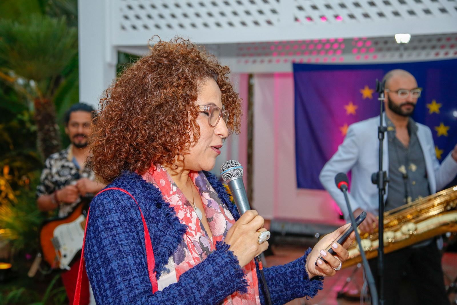 Reception a la résidence de la Délégation de l'Union européenne au Maroc a l'occasion de la journée de l'Europe.