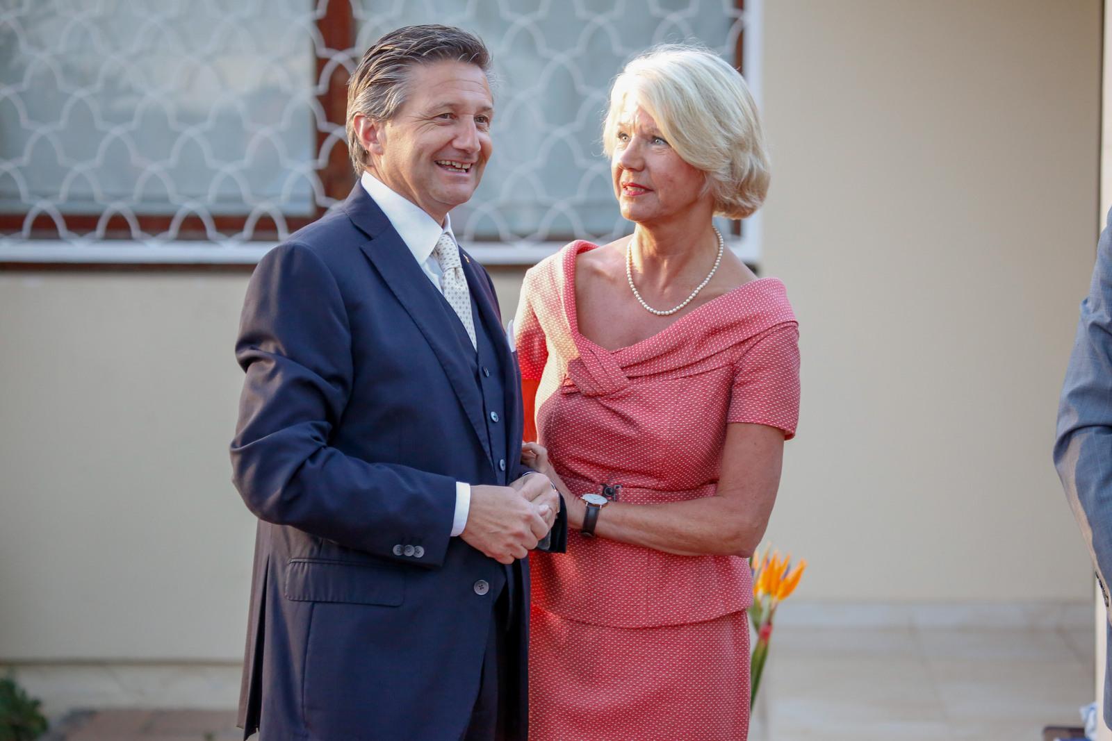 Réception de la Fête du Roi le 29 avril 2019 à la Résidence de S.E. Mme l'Ambassadeur Désirée Bonis.