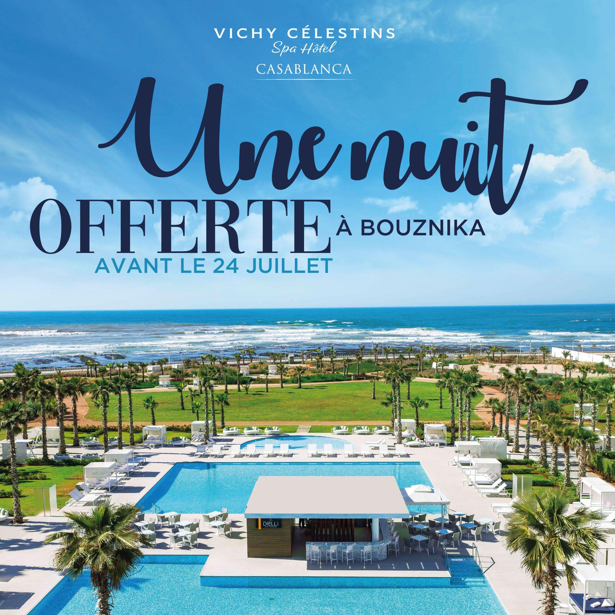 Vichy célestins – Campagne publicité nuit gratuite